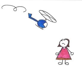 Sophie und Helikopter